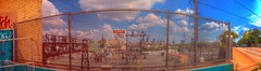 Panorama 3800 hdr pregamma 1 mantiuk06 contrast ma by bruhinb on DeviantArt (bruhinb) Tags: 33rdstreet brewerytown bridge catenary chainlink clouds danger electrical fence hdr highvoltage industrial pa panorama park philadelphiausa rail sky street vibrant wall