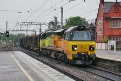 Wigan Chirker (JohnGreyTurner) Tags: br rail uk railway train transport diesel engine locomotive wigan north western lancashire freight goods colas 70 class70 chirk logs fugly betty