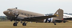 N147DC C-47 EGSU 040619 (kitmasterbloke) Tags: egsu duxford daksoverduxford dc3 douglas c47 c53 aircraft airliner propliner ww2 dday