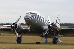 Last minute checks (kitmasterbloke) Tags: egsu duxford daksoverduxford dc3 douglas c47 c53 aircraft airliner propliner ww2 dday