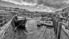The Harbour At Brixham (AreKev) Tags: bm560mishalucy bm560 mishalucy fishingtrawler trawlerboat lowtide brixhamharbour harbour brixham fishingtown torbay southdevon devon southwestengland england uk aurorahdr2019 hdr aurorahdr nikond850 nikon d850 sigmaartlens sigma1424mmf28dghsmart sigma 1424mm 1424mmf28dghsm luminar3 blackandwhite blackwhite
