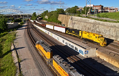 KCT and UP Trains in Kansas City, MO (Grant Goertzen) Tags: kct kansas city terminal railway railroad kaw watco emd power up union pacific train trains transfer freight yard job
