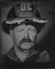 Todd (Robert Raymer Photography) Tags: portrait firefighterportrait bombero retratodebombero retrato pompier pompierportrait feuerwehrmann feuerwehrmannporträt firefighter firefighting dcfd dcfems collodion wetplate tintype ambrotype alternative process historic