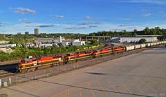 Northbound Transfer in Kansas City, MO (Grant Goertzen) Tags: kcs kansas city southern railway railroad locomotive train trains bnsf emd power yard job transfer missouri