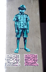 Pasted paper by Tona & Nite Owl [Paris 13e] (biphop) Tags: europe france paris streetart wheatpaste wheatpaper collage pasted paper pasteup tona nite owl niteowl