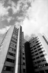 coventry point (generalzorn) Tags: pentaxk1000 vivitar19mm film ilfordhp5 coventry city urban concrete