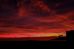 Sunrise (norm_p) Tags: colour color rich dawn sunrise red crimson scarlet sun merimbula australia fujifilm fuji xpro1