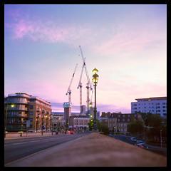 Kew Bridge, Early Morning (Jamie Langford) Tags: rolleiflex velvia50 brentford london 120film t35