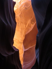 An opening - Lower Antelope Canyon, Page, Arizona, June 2016 (Judith B. Gandy (on and off, off and on)) Tags: antelopecanyon lowerantelopecanyon slotcanyons spiralrockarches arizona canyons geology hazdistazí navajo page rocks sandstone