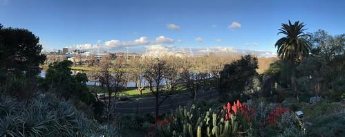Panoramic view from Royal Botanic Gardens Victoria