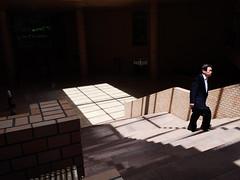 walk in the light (peaceblaster9) Tags: lights shadows people shinjuku tokyo japan lumixgx7mk3 15mm 光 影 ビル stairs 階段 新宿 東京