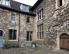 Originally the service area of the monastery, Wash House Court was in effect the servants' quarters (photo by Valerie Schreiner)