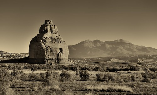 Church Rock in the Early Morning Hours (Black & White)