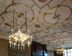 The Great Chamber, constructed by Lord North and embellished by the Duke of Norfolk, is the most splendid room in the Charterhouse (photo by Valerie Schreiner)