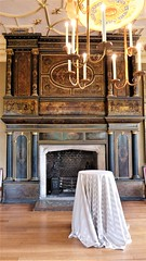 The grand painted chimneypiece in the Great Chamber dates from the late 16th century (photo by Roger Johnson)