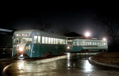 DC Transit 1053 night 1-26-62 (jsmatlak) Tags: dc streetcar tram trolley washington pcc