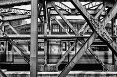 G Train (nyperson) Tags: blackandwhite subway newyorkcity explore