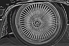 Spooky spokes. (Ian Ramsay Photographics) Tags: newsouthwales australia chevrolet hearse coffin spooky spokes ghoulish flair paraphernalia engine hotrod carrier standard
