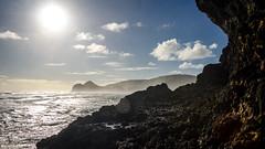 Coming around the corner (Stefan Marks) Tags: raeakiakipoint tasmansea cloud headland nature ocean outdoor rock sky aucklandwaitakere northisland newzealand