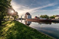 Anklam (karstenlützen) Tags: germany mecklenburgvorpommern anklam harbour reflections waterfront peeneriver riverside