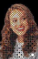 Natalie Portman Mosaic (cornejo-sanchez) Tags: natalie portman mosaic photomosaic illustration cinema movie actress jewish professional starwars swan hollywood concentric circles
