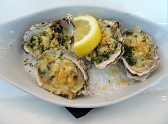 Oyster Rockefeller (knightbefore_99) Tags: vancouver eastvan commercialdrive tasty awesome oyster bar harbour bc thedrive bacon shallot spinach rockefeller cheese panko baked