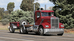 Historic Kennys (2 of 6) (Jungle Jack Movements (ferroequinologist) all righ) Tags: w925 w900 k123 1984 kenworth 1985 kw kenny single ken highway hauling haulin hume sydney 2019 yass classic historic vintage veteran hcvca vehicle run hp horsepower big rig haul haulage freight cabover trucker drive transport delivery bulk lorry hgv wagon nose semi trailer deliver cargo interstate articulated load freighter ship move roll motor engine power teamster tractor prime mover diesel injected driver cab wheel k