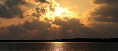 Ft DeSoto Sunset Panorama 6/7/2019 (dbadair) Tags: outdoor seaside shore sea sky water nature wildlife 7dm2 7d ii ef100400mm ocean canon florida sun sunset gold