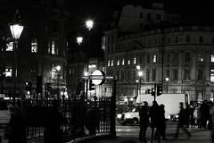Trafalgar Square, London (RobCross24) Tags: night lights fuji trafalgarsquare 56mmf12 street city london underground lamp xt3