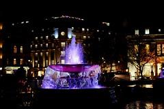 Fountain: Trafalgar Square, London (RobCross24) Tags: street london water fountain night lights fuji purple trafalgarsquare xt3 56mmf12