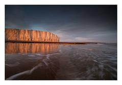 Birling Gap / June 6th (Edd Allen) Tags: birlinggap sea seaside coast coastal uk southeast eastsussex england greatbritain nikon landscape seascape clouds atmosphere atmospheric sunset winter nikond810 d810