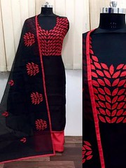 Lovely Black Color Partywear Embroidered Chanderi Silk Dress Material (zeelpin) Tags: partywear wedding exclusive event demand zeelpin special sales morden style purchase traditional tranding royalty discount currant popular look glamour b4ufashion colourful indianfashion