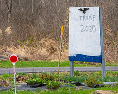 2020 (keidong) Tags: homemade politicalsign trump2020 eagle bluewave albanycounty newscotland ny reflector