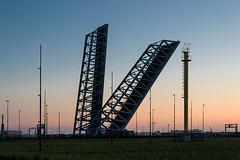 The bridge (jefvandenhoute) Tags: belgium belgië antwerp antwerpen light shapes sunset harbour waaslandhaven