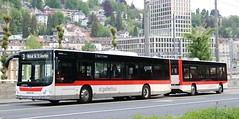 Verkehrsbetriebe St.Gallen (VBSG) 'Bus Train' 211 SG 298211 on high capacity routes in the City. (Gobbiner) Tags: vbsg sg298211 stgallen bustrain 211 easternswitzerland manlionscity hess stgallerbus