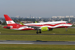 YL-CSL Airbus A220-300 EBBR 14-05-19 (MarkP51) Tags: ylcsl airbus a220300 airbaltic bt bti latvia100 specialcolours brussels zaventem airport bru ebbr belgium airliner aircraft airplane image markp51 nikon d500 nikonafp70300fx sunshine sunny