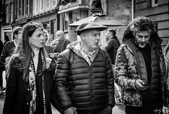 French Beret (Cycling-Road-Hog) Tags: beard beret blackwhite candid canoneos750d citylife colour efs55250mmf456isstm edinburgh edinburghstreetphotography fashion monochrome people places royalmile scotland street streetphotography streetportrait style urban