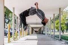 """Salto Mortal"" (Alyaz7) Tags: nikond7200 lentenikonnikkorafs35mm118gdx acrobacias acrobatics salto jump mortal backflip parkour ciudaddeméxico mexicocity ciudaduniversitaria unam puntodefuga vanishingpoint pasillo hallway highspeed altavelocidad"