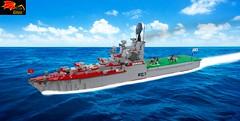 Moskva Helicopter Carrier (Eínon) Tags: helicopter cruiser destroyer lego missile carrier aircraft moskva cold war urss cccp soviet union