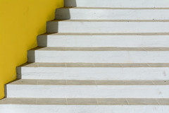 White steps, yellow wall (Jan van der Wolf) Tags: map194342v staircase stairway stairs trap treden steps white wit wall muur yellow
