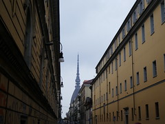 Italy - Piedmont - Turin - View to Mole Antonelliana (JulesFoto) Tags: italy piedmont clog centrallondonoutdoorgroup turin torino moleantonelliana street
