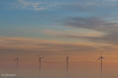 Ethereal (Ian C Sanderson) Tags: beach sea seascape coast durham north yorkshire wind electricity modern misty low key minimal sunrise colours ian sanderson d500 tamron