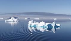 Small icebergs causing ripples in the calm ocean (Paul Cottis) Tags: weddellsea antarctica ice iceberg ocean 1 february 2019 feb paulcottis reflection blue sky