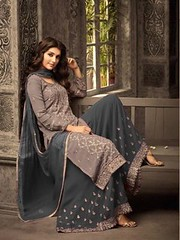 Lovely Grey Colour Embroidered Georgette palazzo & dupatta set (zeelpin) Tags: partywear wedding exclusive demand special zeelpin sales morden event style purchase tranding traditional royalty branding currant colourful popular glamour discount b4ufashion look indianfashion