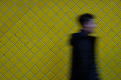 🔶 (jhnmccrmck) Tags: tiles melbourne victoria 3000 fujifilm fujifilmxt1 xt1 xf1855mm jhnmccrmck classicchrome street yellow pedestrian blurred