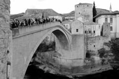 Arch bridge (sfryers) Tags: starimost oldbridge oldtown historic reconstructed ottoman stone arch bridge islamic architecture river neretva bosnia herzegovina bosnaihercegovina smc pentaxda 15mm 14 limited monochrome