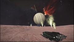 Tr 16 Sector AG-O c6-2 8 b (CMDR Snarkk) Tags: eta carina nebula krait elite dangerous planet gas giant geyser