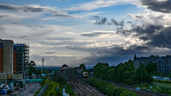 HSTs cross under a sky full of showers (robmcrorie) Tags: 43272 43164 liner scotrail hst high speed train class 43 inter city 125 dundee tay bridge nikon d850 1z10