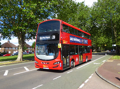 GAL WHV111 - BX14TJV - ROCHESTER WAY ELTHAM - THUR 6TH JUNE 2019 (Bexleybus) Tags: rochester way kidbrooke eltham se3 se9 carnbrook road go ahead goahead london wrighbus gemini hybrid demo demonstrator bus whv111 bx14tjv tfl route 286