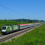 ÖBB 1016 023 am 07.06.2019 als 14610 Wien Hbf - Feldkirch in Weng bei Neumarkt